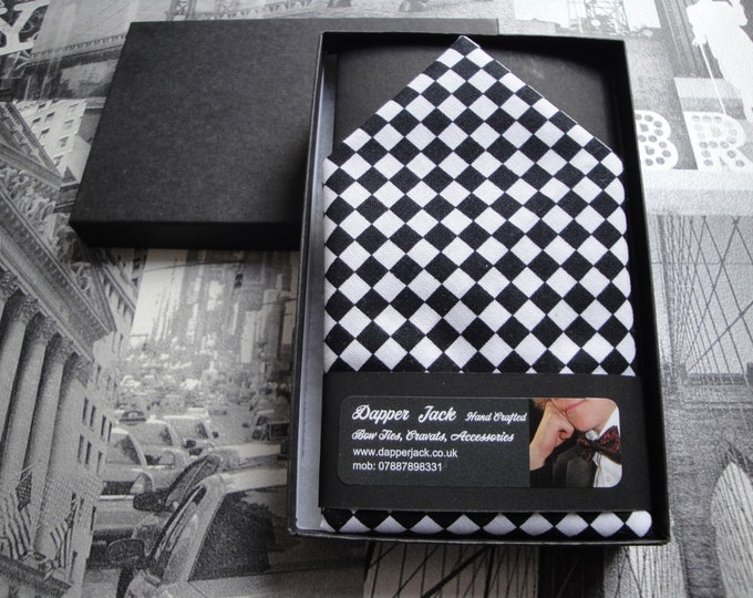 Pocket Square, chequered flag pocket square, chequered flag handkerchief