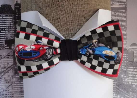 Bow tie, old racing cars, bow ties for men, pre tied bow tie