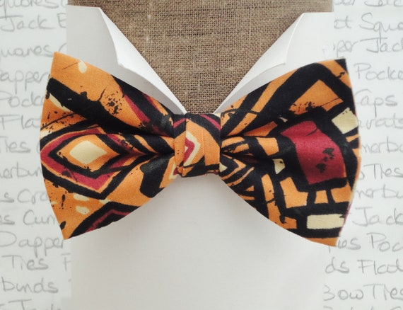 Bow ties for men, geometric print bow tie