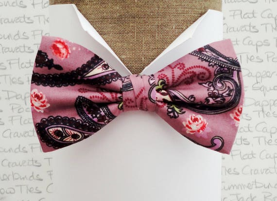 Paisley bow tie, bow ties for men, pre tied or self tie bow tie, bow ties UK