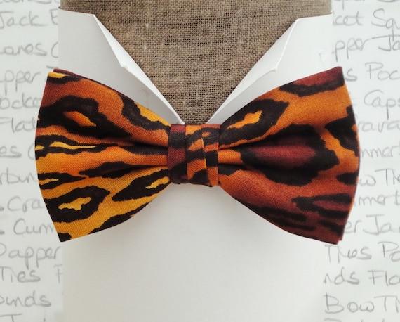 Bow ties for men, leopard print bow tie, self tie bow tie, pre tied bow tie