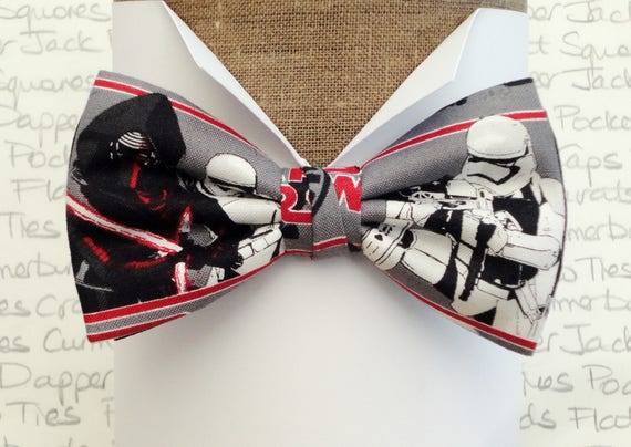 Star Wars bow tie, pre tied bow tie, bow ties for men, Kylo Ren and Storm Trooper