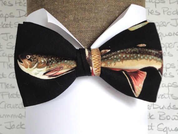 Anglers bow tie, bow ties, bow ties for men, pre tied bow tie, Dapper Jack bow ties