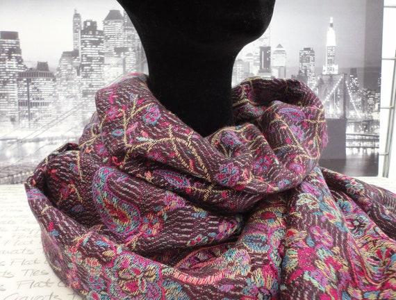 Deep wine wrap, shawl, pashmina, scarf
