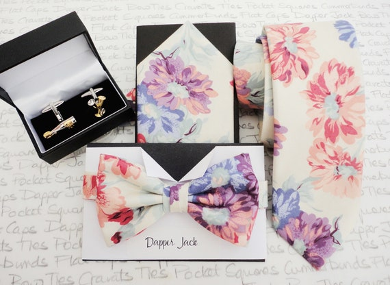 Gift Set, Necktie, Bow Tie, Pocket Square and Cufflinks