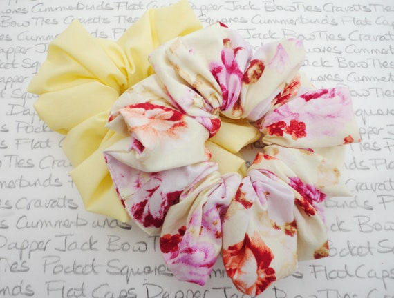Pack of Two Scrunchies, Pastel Scrunchies, Perfect Gift For a Sister, Mother, Auntie, Girlfriend, Gifts For Girls