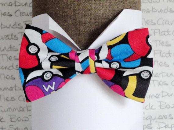 Pokemon Bow Tie, PokemonGo, Bow Ties For Men, Men's Bow Ties