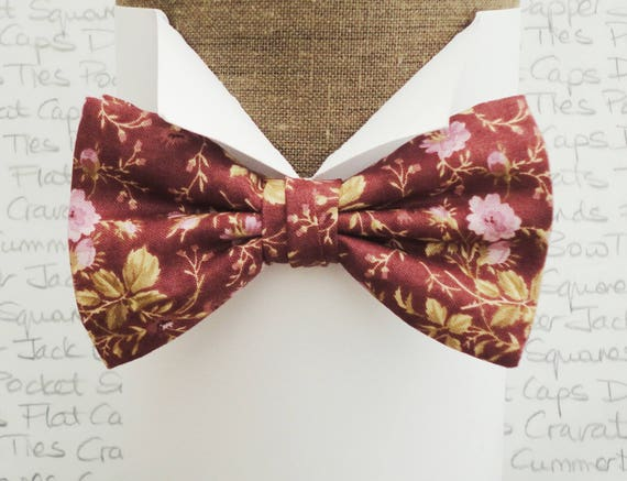 Pre tied bow tie, floral bow tie, bow ties for men, cotton bow tie