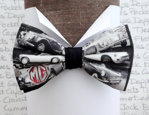 Bow ties for men, MG cars pre tied bow tie