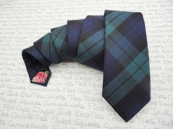 Ties for men, blackwatch tartan tie