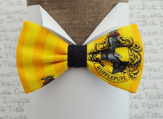 Hufflepuff House bow tie, Harry Potter bow tie, bow ties for men