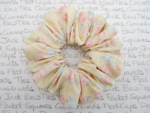 Lemon Floral Scrunchie, Scrunchies For Girls, Scrunchie Hair Accessories, Wedding Hair Accessories
