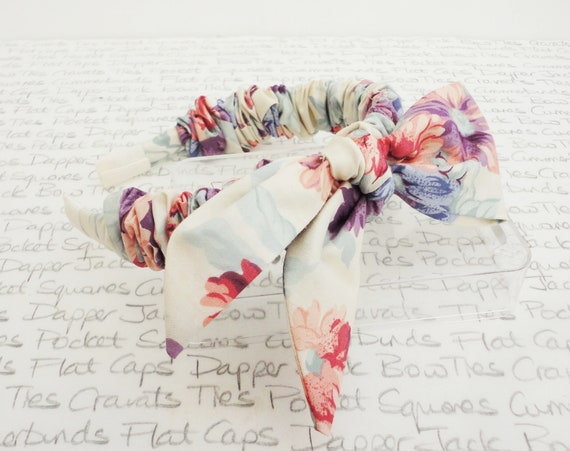 Ivory Floral Headband With Detachable Bow, Hair Accessories For Girls, Bride Hair Accessories, Bridesmaid Hair Accessories