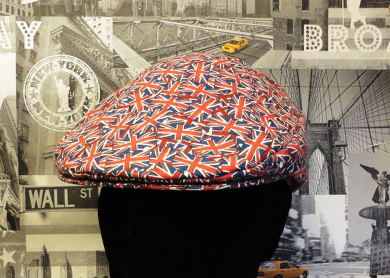 Flat Cap, Union Jack Flat Cap, Men's Hats