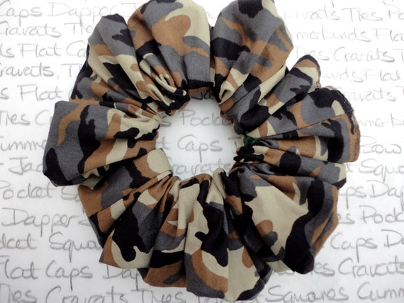 Camouflage Scrunchie, Large Scrunchy, Scrunchies For Girls, Elegant Scrunchies