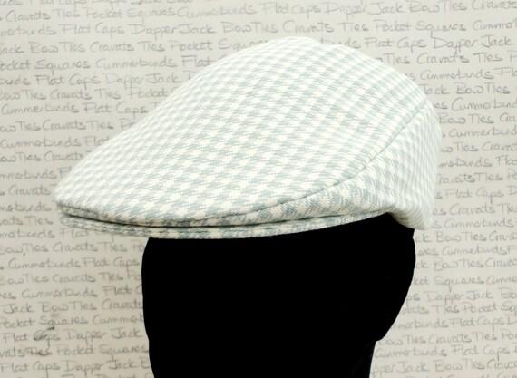 Flat Cap, houndstooth check flat cap for men