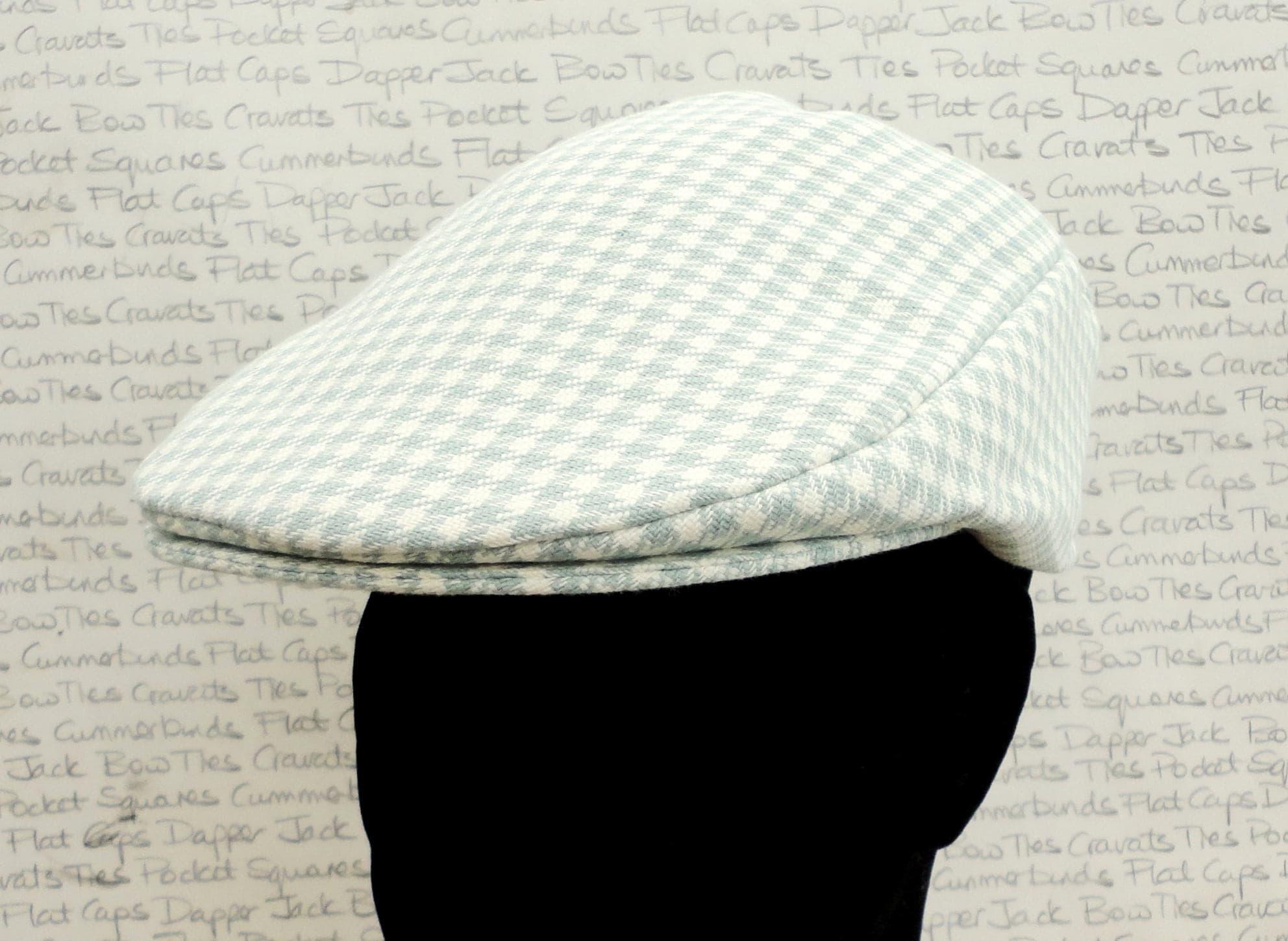 095c4a27b3 Flat Cap, houndstooth check flat cap for men