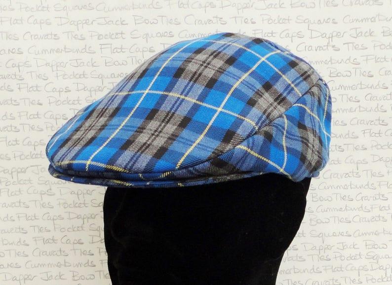 703014188 Flat Cap, blue, grey, black check flat cap, flat caps for men