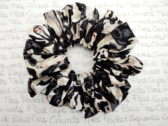 Scrunchies, Cow Print Scrunchie, Black White Cow Print, Scrunchies For Girls, Farmers Wife Scrunchie, Gifts For Ladies, Gifts For Farmers