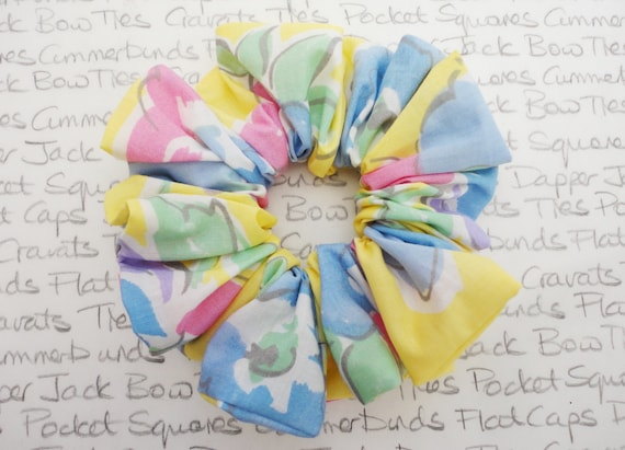 Pastel Print Scrunchie, Hair accessories, Trending Scrunchies, Gifts For Girls, Stocking Filler For Girls, Bridesmaid Scrunchies