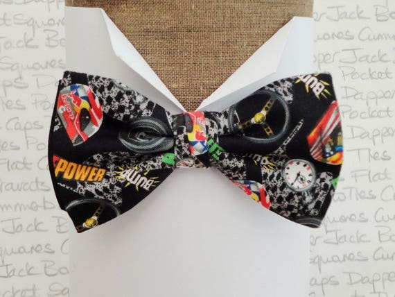 Bow ties for men, horse power racing bow tie