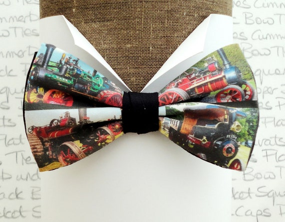 Traction engine pre tied bow tie, bow ties for men