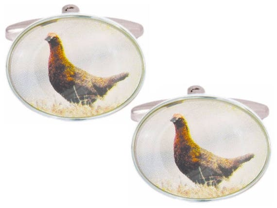 Grouse Cuff LInks, Cuff Links For Men