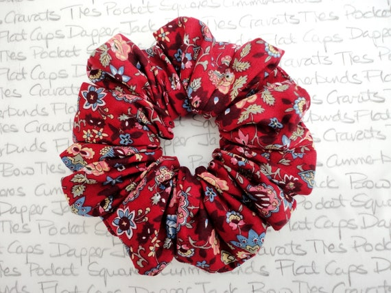 Large Scrunchie, Hair Accessories, Floral Scrunchie, Designer Scrunchie