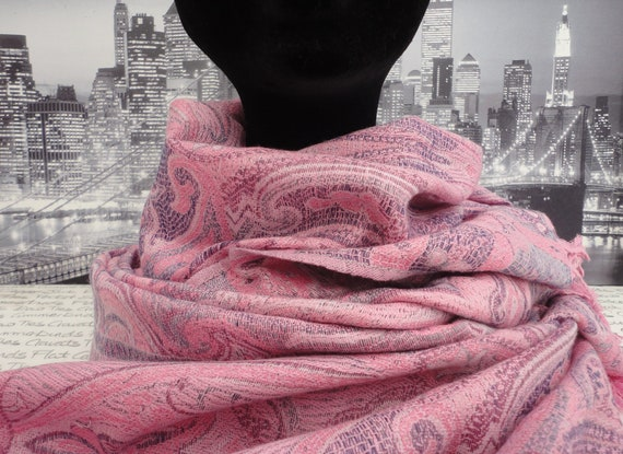 Shawl, Scarf, Pashmina, Shades of pink