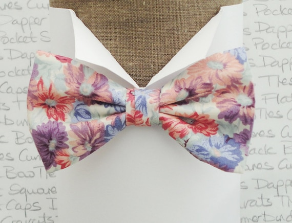 Floral Bow Tie, Wedding Bow Tie, Groom Fashion, Proms Bow Tie, Trending Summer Fashion For Men
