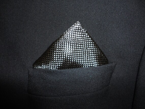 Carbon fibre pocket square.