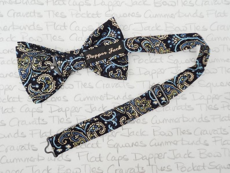 Pre tied bow tie Self tie bow tie Bow ties for men Paisley bow tie
