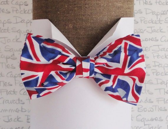 Union Jack bow tie, bow ties for men, men's bow ties