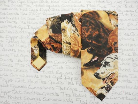Ties for men, dog print neck tie for men