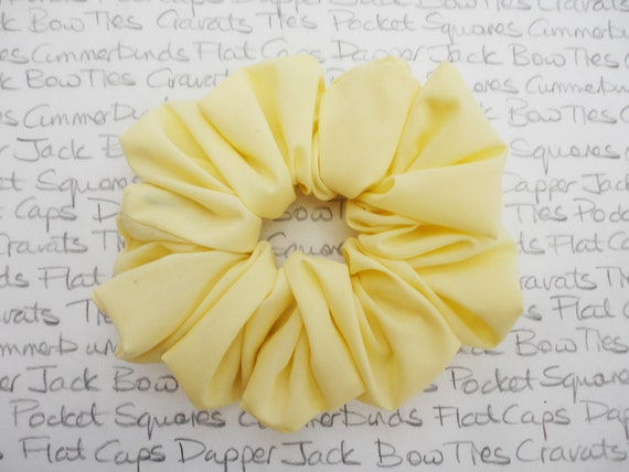 Pale Lemon Scrunchie, Pastel Scrunchies, Wedding Hair Accessories, Gifts For Girls