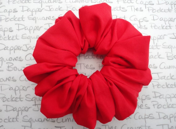 Red Scrunchie, Valentines Day Gift, Gifts For Mum, Gifts For Girlfriend, Gifts For Girls, Scrunchie Cult