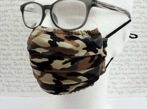 Pack of Two Camouflage Face Masks, Face Coverings, Pollution Masks, Masks4All