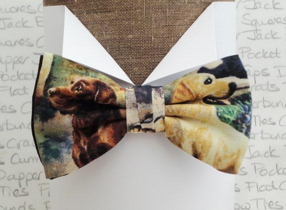 Labrador bow tie, bow ties for men, pre tied bow tie.