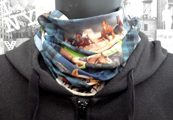 Neck tube, snood, horses print neck tube
