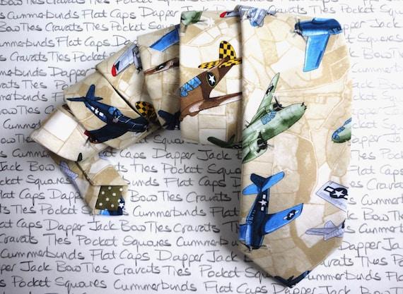 Tie, Necktie, Ties for men, Neck ties for men, Aeroplane print neck tie