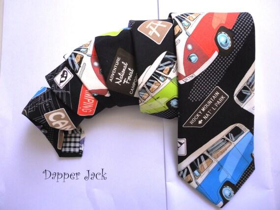 Neck tie, ties for men, VW Camper Van Tie, campervan tie, mens ties, wedding tie