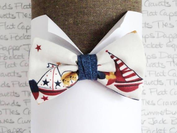 Boys bow tie, bow ties for boys, sailor print bow tie