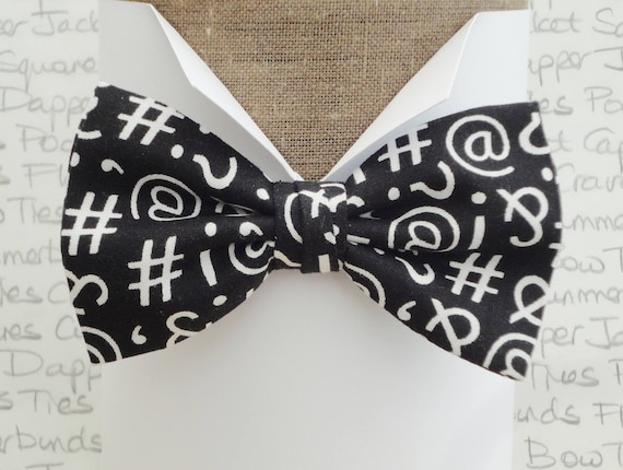 Bow ties for men, text symbols bow tie