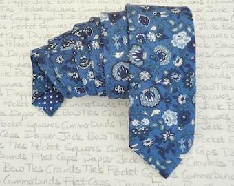 Necktie, Floral necktie, blue floral tie, wedding tie
