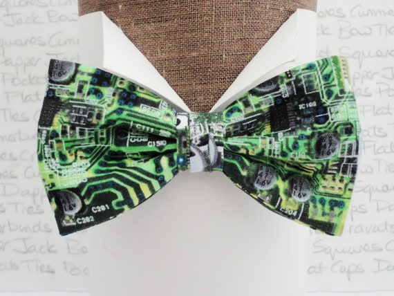 Printed Circuit Board Bow Tie, Pre Tied or Self Tie Bow Tie, Bow Ties For Men And Women