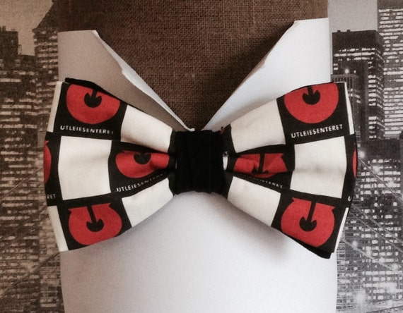 Bespoke service, example of a bow tie with company logo.