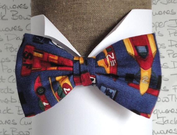 Bow Ties For Men, Racing Cars Bow Tie, Pre Tied Bow Tie or Self Tie Bow Tie
