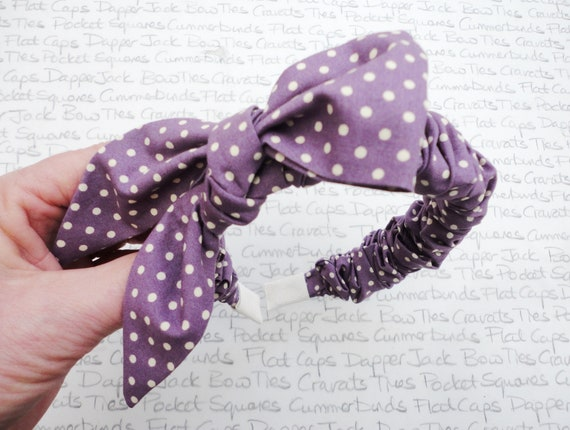Lilac And Ivory Spots Hairband, Bridesmaids Hairband, Hair Accessories, Headband