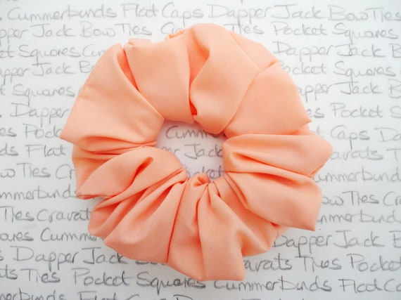 Peach Scrunchie, Hair Accessories, Full Large Scrunchie Perfect For Bridesmaids, Wedding Scrunchie, Trending Hair accessories