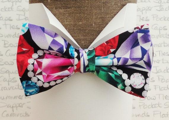 Bow Ties For Men, Jewel Print Bow Tie, Proms Bow Tie, Bow Ties UK